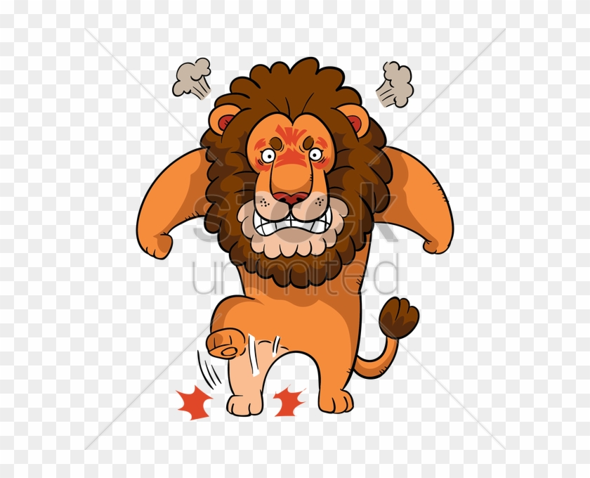 Cartoon Lion Feeling Angry Vector Image Angry Lion Face Cartoon Free Transparent Png Clipart Images Download
