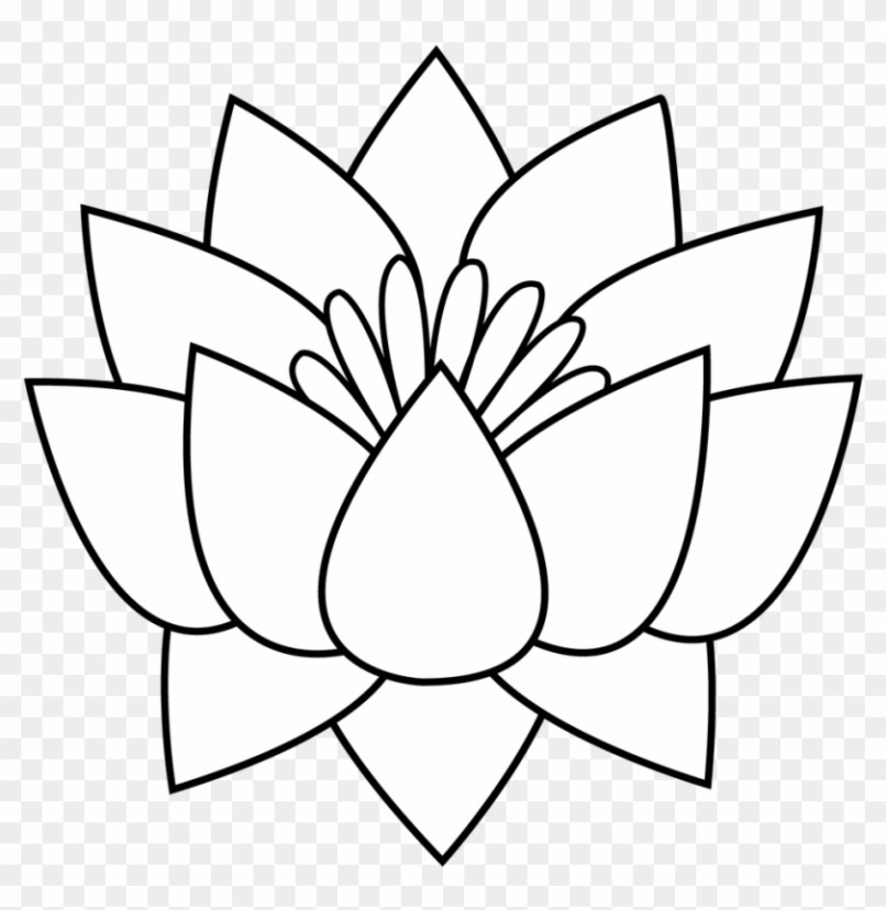 Lotus Flower Images Black And White Wallpapersimagesorg