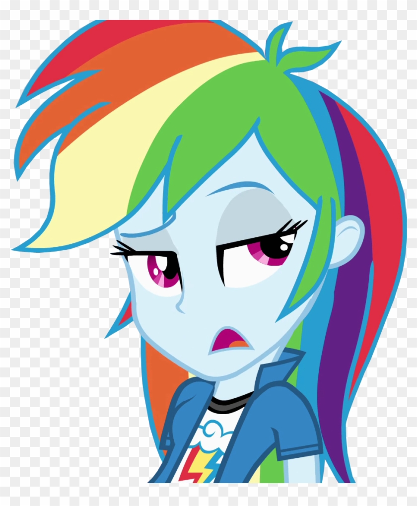 Rainbow Dash Equestria Girls Vector By Belen02 On Deviantart Rainbow Dash Equestria Girl Hair Free Transparent Png Clipart Images Download