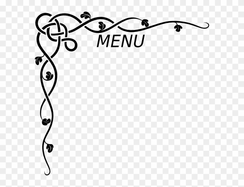 menu clip art at clker border design
