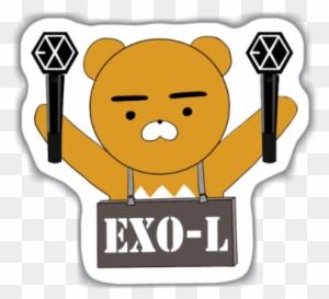 Sticker Tumblr Exo - On Log Wall