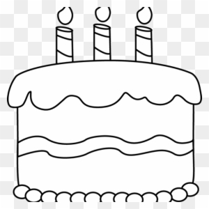 Birthday Cake Clipart Black And White Transparent Png Clipart Images Free Download Clipartmax