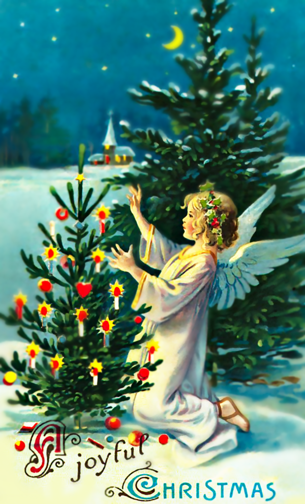 Christmas Angel and Tree
