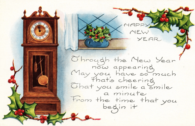 New Year Clock Clipart