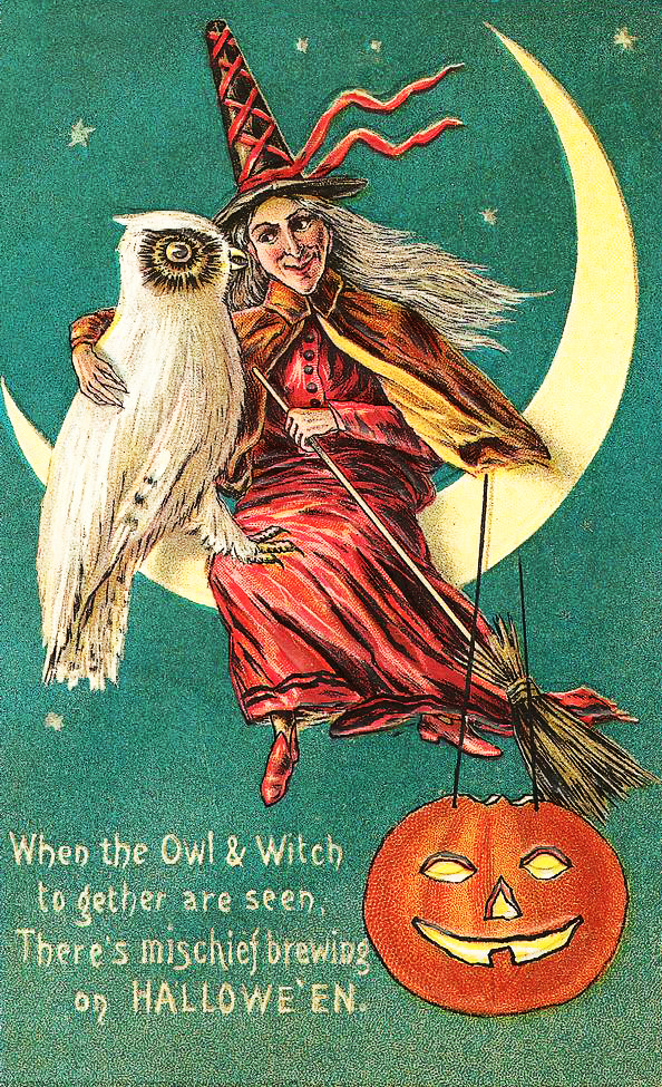 Witch and Owl Clipart