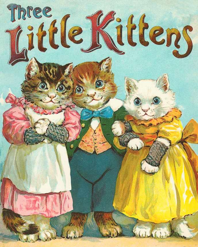 Three Little Kittens Clipart