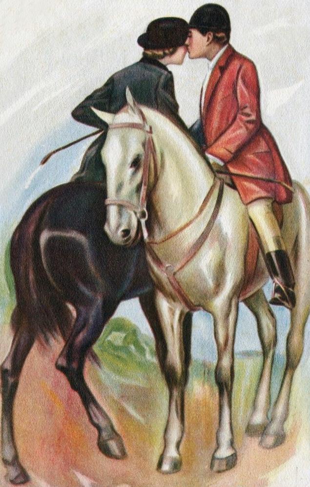 Equestrian Romance clipart