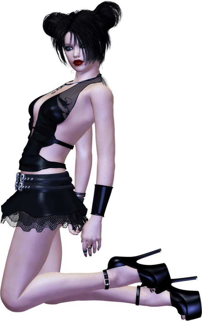 Free Goth Chick 2 Clipart