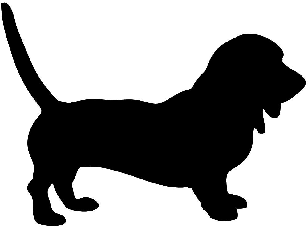 Dog Silhouette (1000 x 744 Pixel)