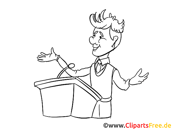 Business Conference Clipart Cartoon Image