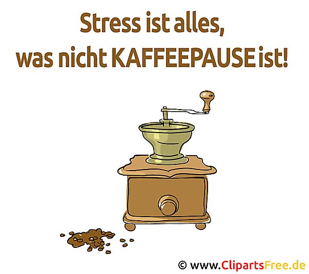 Stress Ist Alles Was Nicht Kaffeepause Ist Lustige Spruche