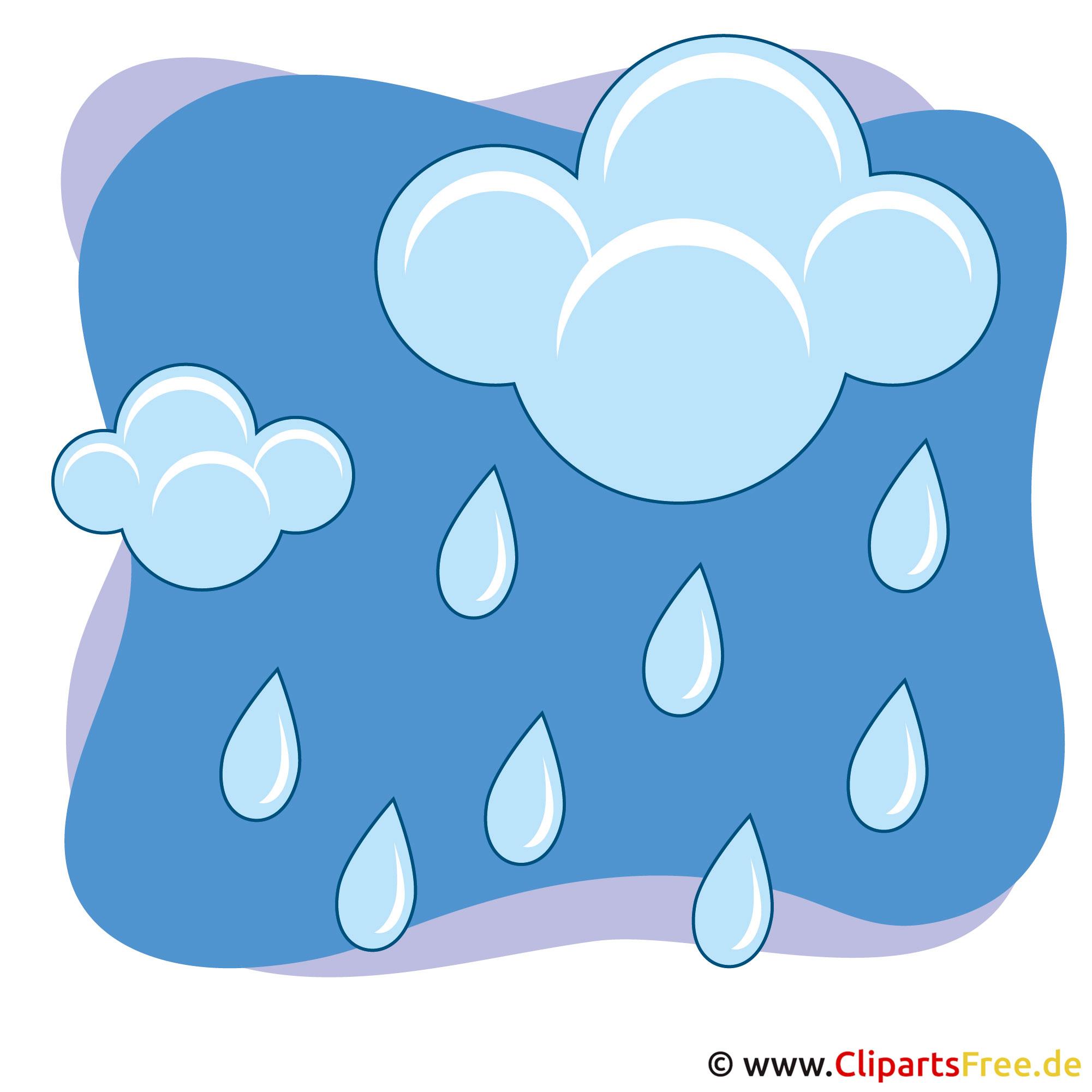 Himmel Wolken Und Regen Clipart Bild Gratis