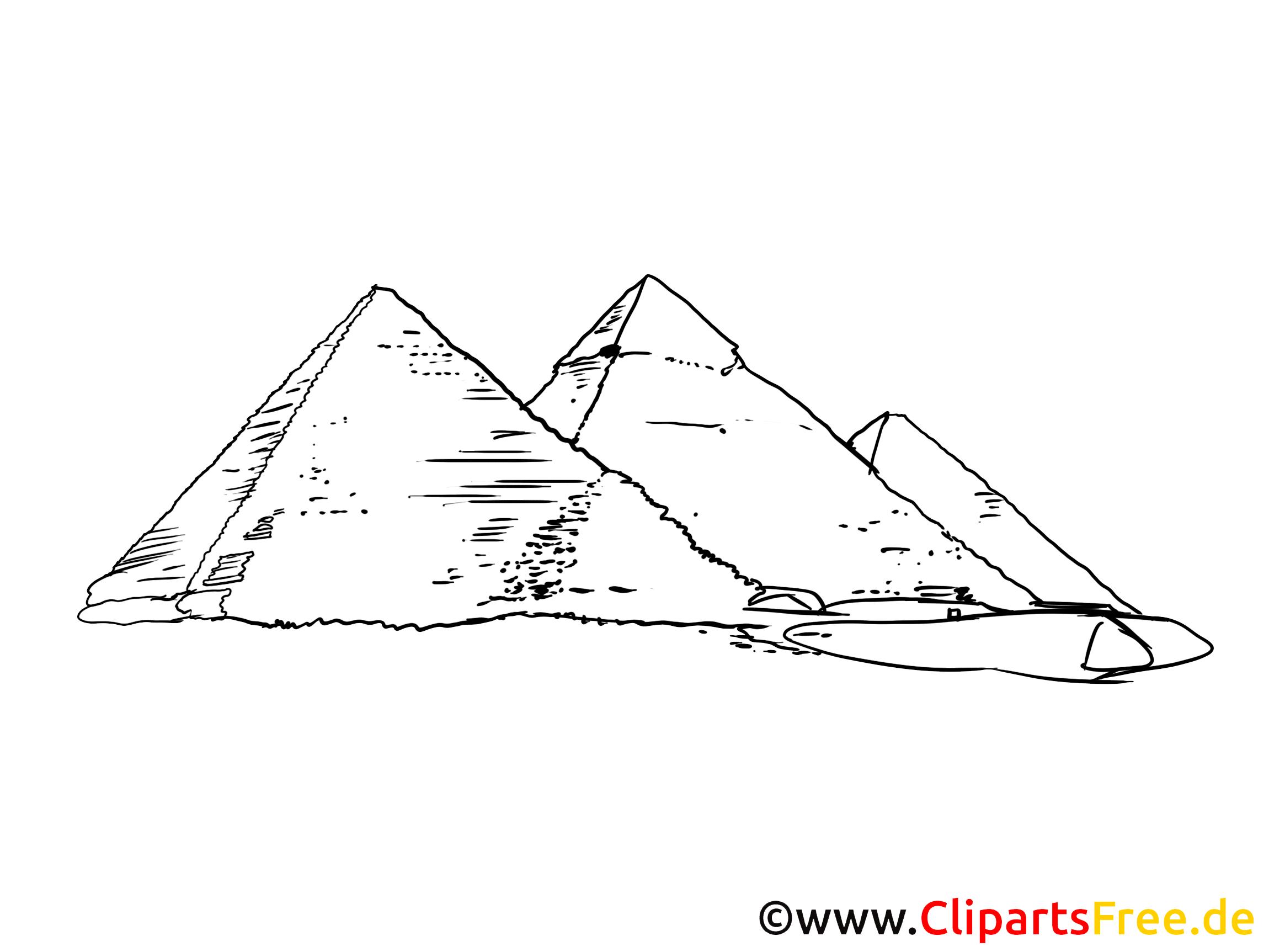 Pyramiden Bild Zeichnung Clipart Gratis
