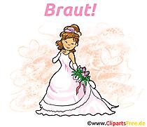 Lustige Hochzeitseinladung Mit Brautpaar Und Baby Als Comic