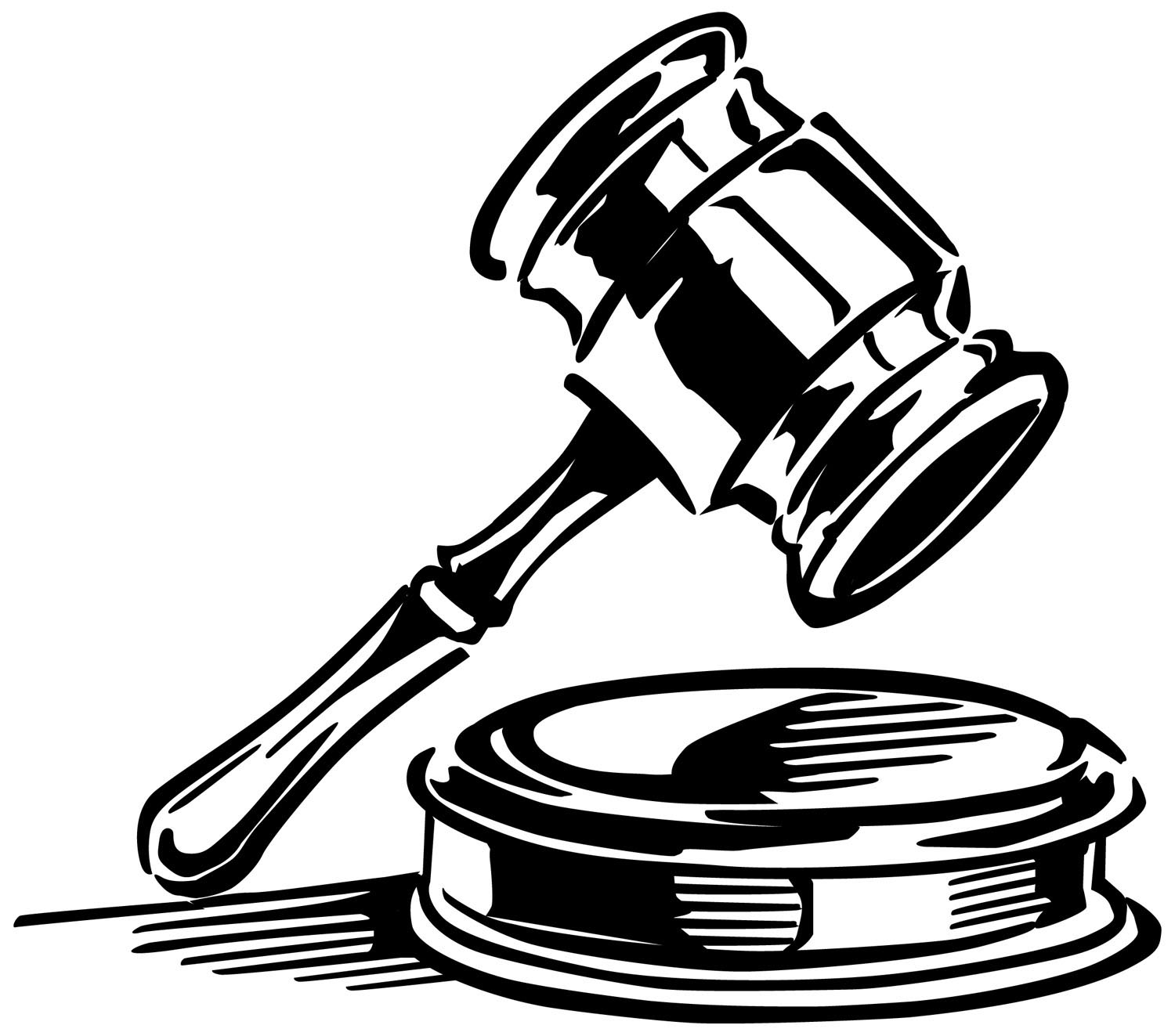 Gavel Black And White Clipart