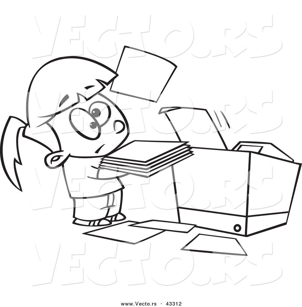 Cartoon Copy Machine Clipart