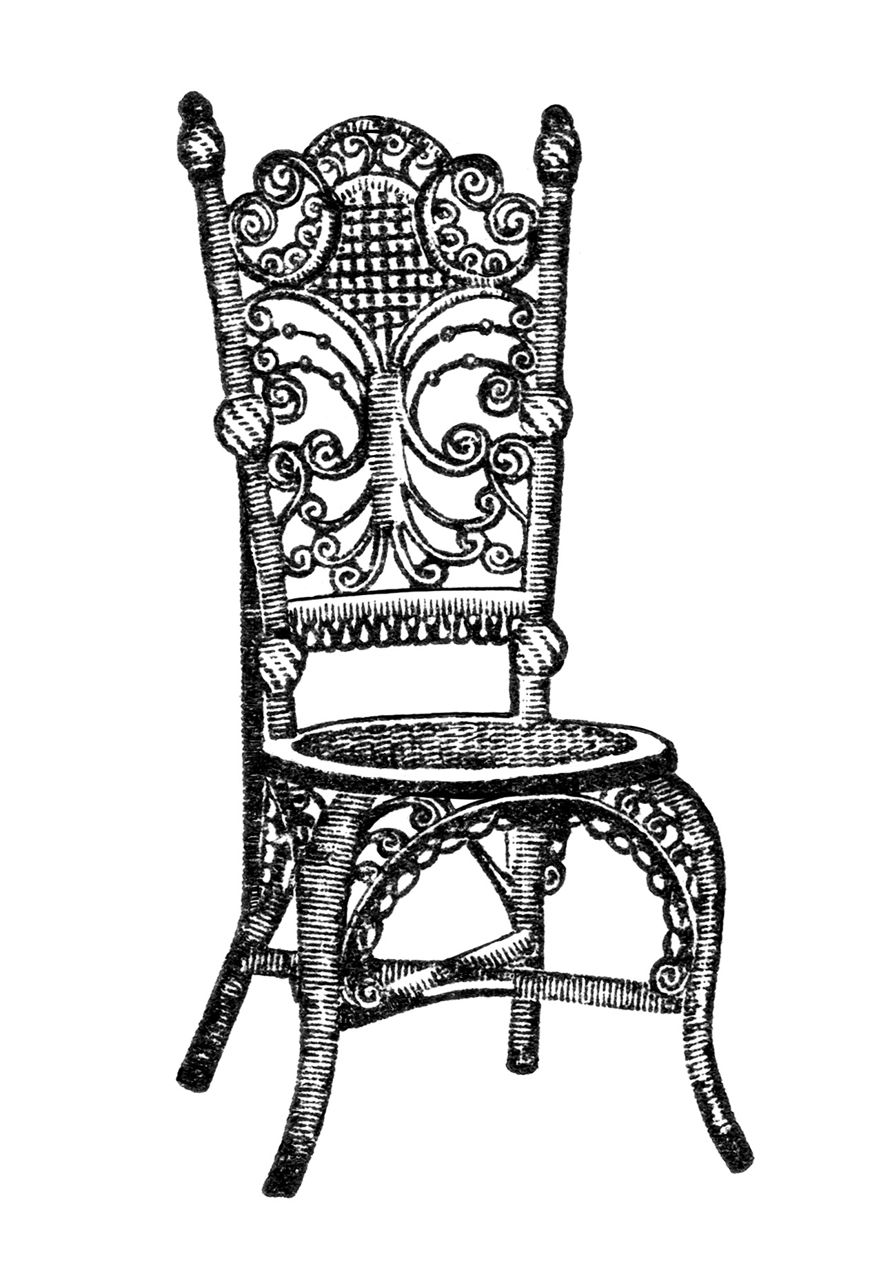 Chair Antique Chair Image Black And White Clip Art