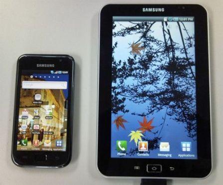 Samsung Tab y Samsung Galaxy S