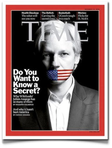 julian assange wikileaks time