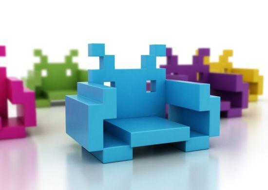 Sillones Coloridos.Sofa Space Invaders El Sillon Para Marcianitos