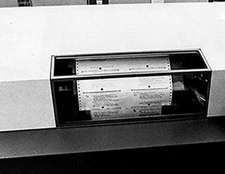 catalog card printer