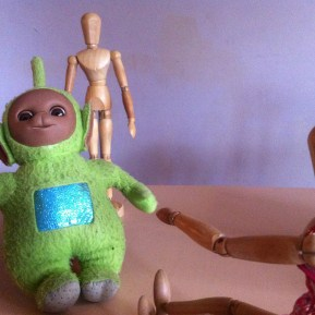 """""""Come quickly Mike, Teletubby is going to turn on the tele in his belly... the telebelly"""""""