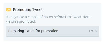 Introducing Twitter Quick Promote - Awaiting results
