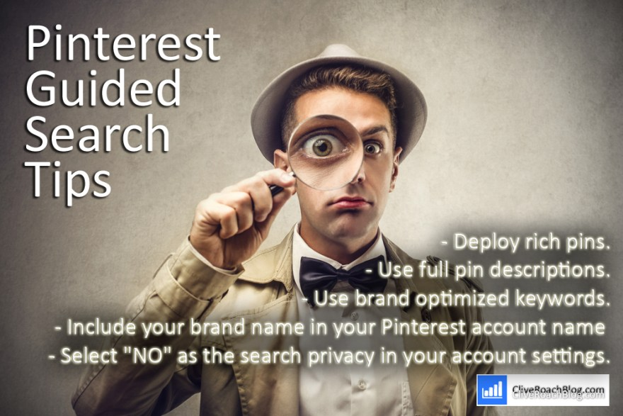 Pinterest guided search tips