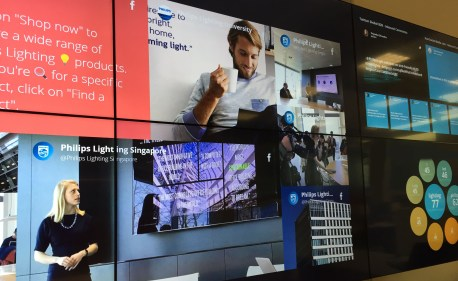 Philips lighting command center located in Eindhoven