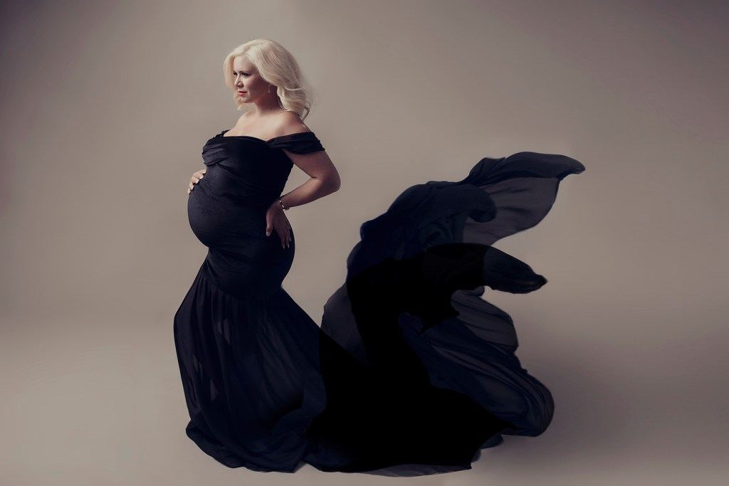 Glam Maternity Studio Shoot Dallas TX CLJ Photography
