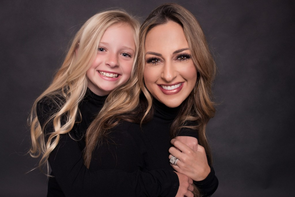 Studio Mother Daughter Photo Shoot Dallas Modern Portrait CLJ Photography
