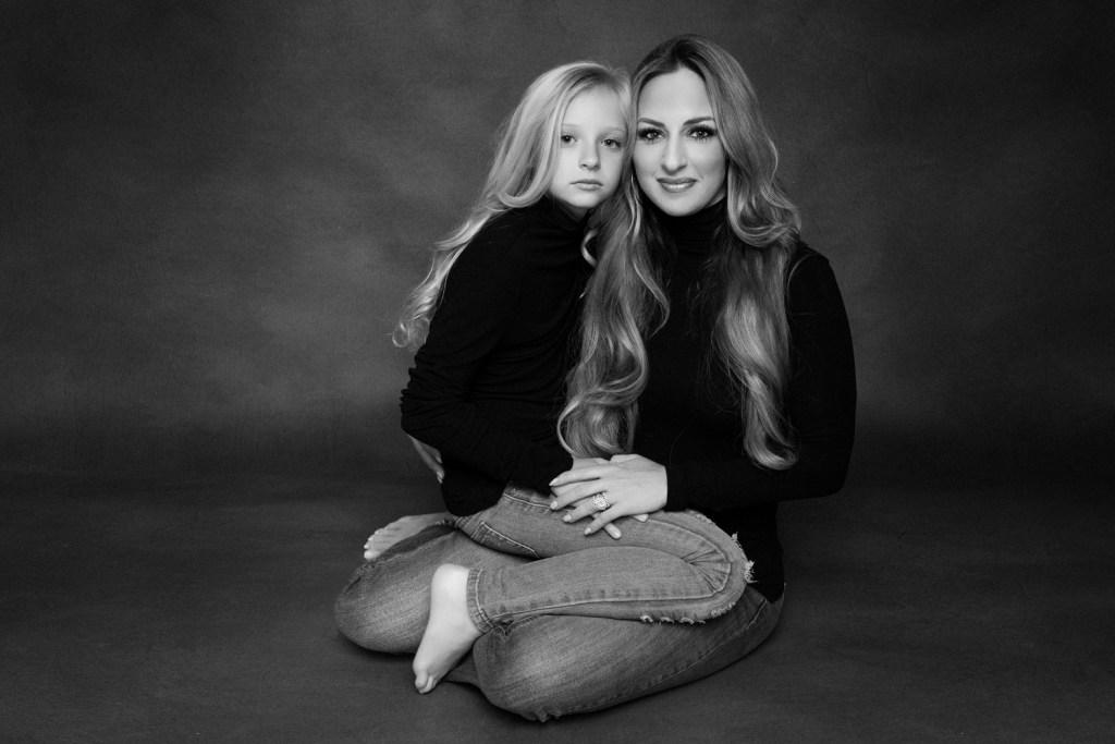 Studio Mommy and Me Photo Shoot Dallas Modern Portrait CLJ Photography