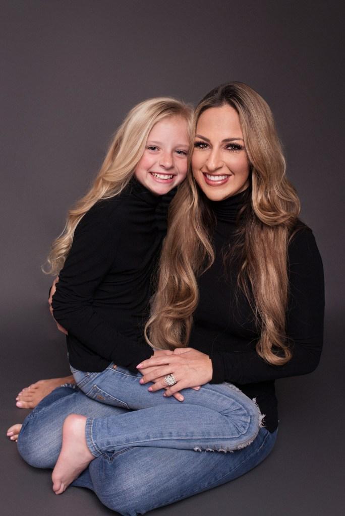 Studio Mommy and Me Photo Shoot Dallas Modern Portrait CLJ Photography