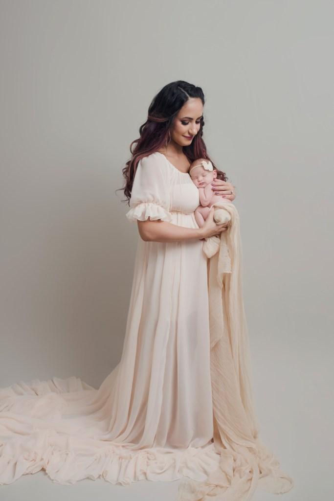 full newborn experience Studio Newborn Photo Shoot in Dallas CLJ photography