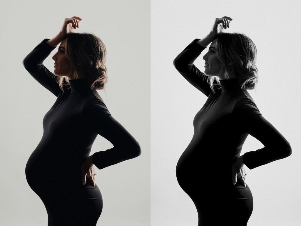 Sophisticated Maternity Shoot, Dallas Studio Maternity Photo Shoot CLJ Photography