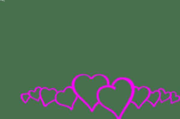 Magenta Heart Border Clip Art At Vector Clip