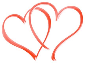 Double Heart | Free Images at Clker.com - vector clip art ... (300 x 222 Pixel)