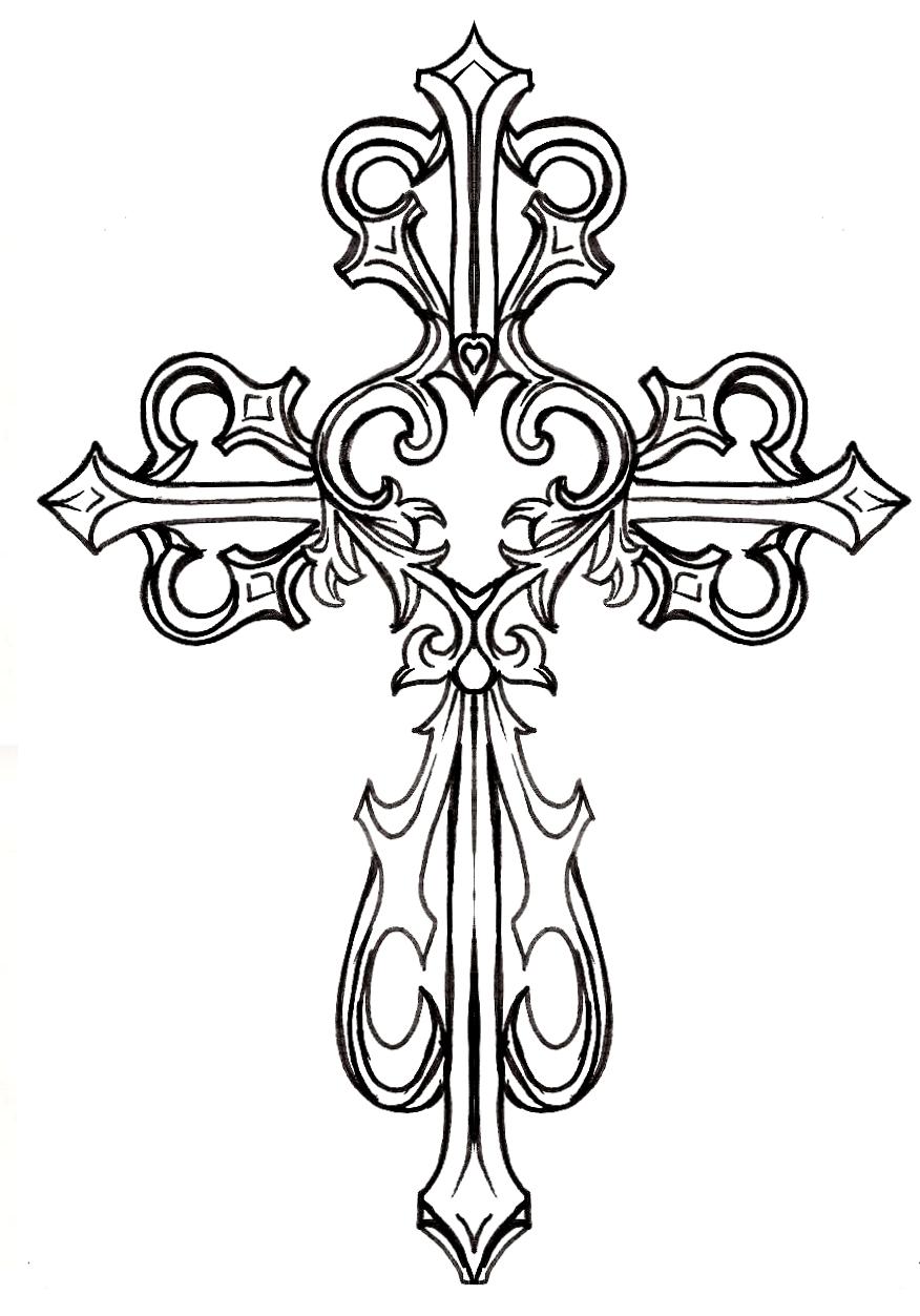 Cross   Free Images at Clker.com - vector clip art online ... (876 x 1253 Pixel)