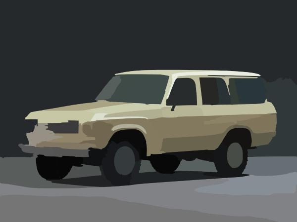 Toyota Land Cruiser D D P Clip Art at Clker.com - vector ... (600 x 450 Pixel)