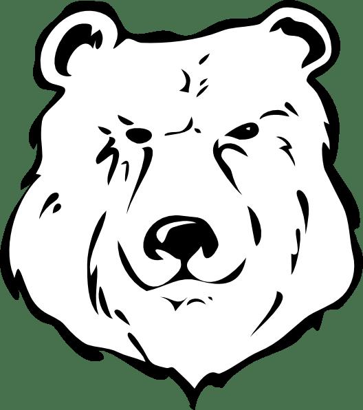 bear black and white clip art at clker com vector clip art online