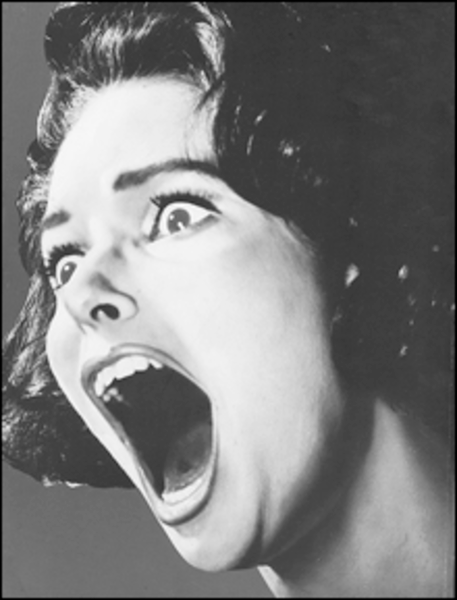 Image result for picture of a screaming woman