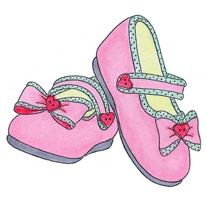 Pink Baby Booties Free Clipart   Free Images at Clker.com ... (300 x 300 Pixel)