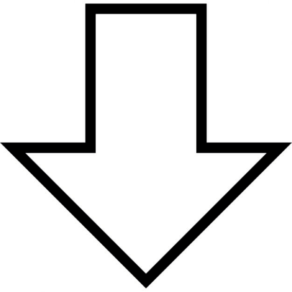 Free Clipart Arrow Pointing Down | Free Images at Clker ... (600 x 600 Pixel)