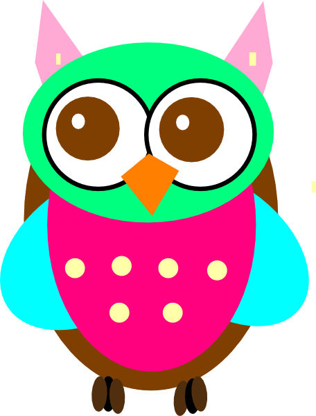 colorful baby owl chick clip art at clker com vector clip art online