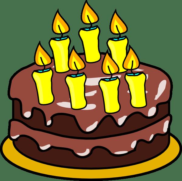 7th Birthday Cake Clip Art at Clker.com - vector clip art ... (600 x 597 Pixel)