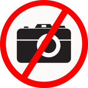 No Camera Allowed clip art
