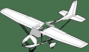 Easy Aeroplane Clipart Black And White