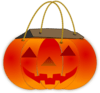 Trick Or Treat Pumpkin Bag clip art