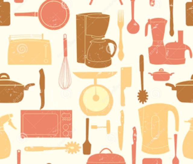 Retro Kitchen Clipart Image