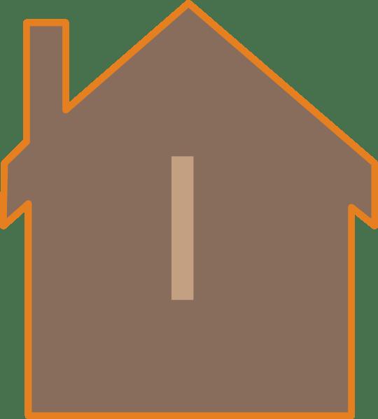 Brown House Clip Art at Clker.com - vector clip art online ... (540 x 599 Pixel)